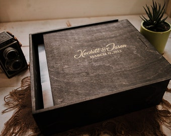 12x12x4 - Wood Album Box (NO area for USB)