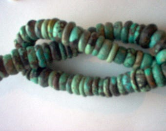 Vintage Tibetan Turquoise Beads Green Turquoise Beads Jewelry Supplies