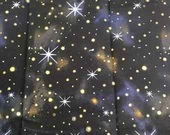 Sora Japanese Fabric / Night Sky and Galaxy Design Canvas Fabric  - 108cm x 50cm