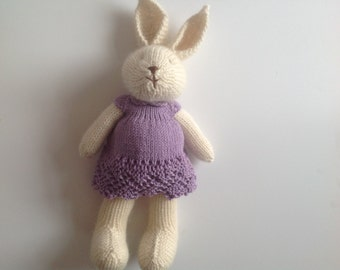 Knitted toy, handmade toy, hand knitted toy, softie, soft toy, baby shower gift, kids toy, rabbit toy, hand knitted toy, present for kids,