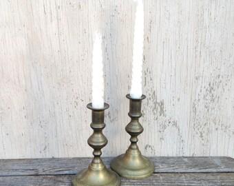 Vintage Brass Candlesticks - Solid Brass Candle Stick Holders Rostand