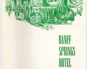 Vintage 1953 Banff Springs Hotel Breakfast Menu Canadian Pacific Hotels Near Mount Rundle and Banff National Park w/Out Of Door Entertainmet