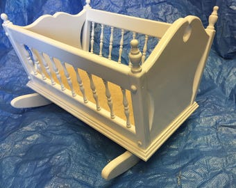 Handcrafted  Baby Doll Cradle