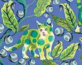 Tabby Road - Tula Pink - Disco Kitty - Blue Bird