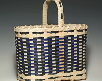 Salem Basket in blue and green