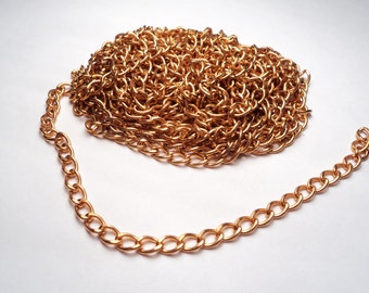 10 feet - Brass oval link chain - m25