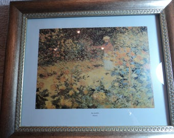 Framed print by Claude Monet