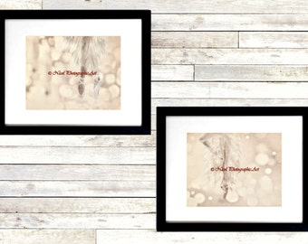 Set of 2 Art Prints Ballet Shoes Dance Ballerina Girls Room Matted Picture A202