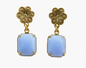 Periwinkle Flower Earrings