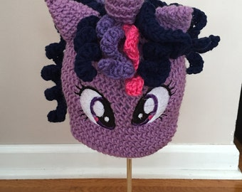 My Little Pony Twilight Sparkle Crocheted Hat