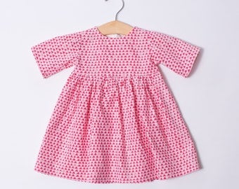 Infant Dress - Baby Triangle Dress - Red Baby Dress