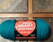 Red Heart Super Saver Teal yarn