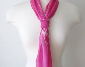 Vintage Pink Lynn Long Scarf - Soft Summer Scarves - Womens Accessories 1970s