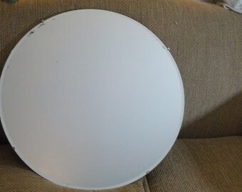 Mirror, Antique, Large Size Round Mirror, Antique Beveled Round Mirror, Measures 26 in Extra Large Size, Vintage Home Decor,