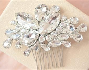 Rhinestone Hair Comb, Crystal Hair Comb, Bridal Hair Comb, Wedding Hair Comb, Crystal Hair Piece, Rhinestone Hair Piece, Bridal Hair Piece
