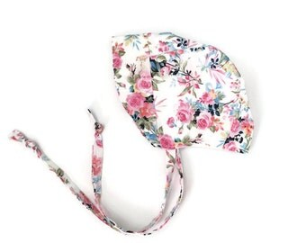 Baby bonnet   Toddler bonnet   Sun Bonnet   Vintage Floral   Sun Hat   Summer hat   Bonnet   floral