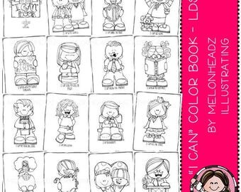 I Can Coloring Book - LDS - Printable