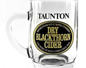 Vintage Official Dry Blackthorn Cider Branded 1/2 Pint Glass