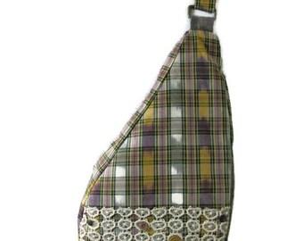 Plaid Purse- Plaid Backpack- Sling Backpack- One Strap Backpack- Sling Bag- Single Strap Backpack- Sling Shoulder Bag- Sling Purse