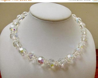 On Sale Vintage Aurora Borealis Crystal Necklace Item K # 2908