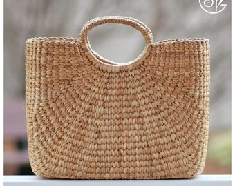 Straw beach bag | Etsy