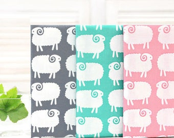 Sheep Fat Quarters Bundle Cotton Fabric - Set of 3 - By the Pack 74743
