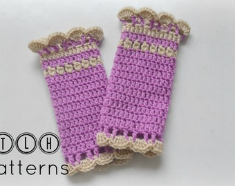 Crochet legwarmer pattern, baby girl legwarmer, Baby legwarmers, 3 sizes- 0 to 3, 3-6 and 6-12 months, Pattern No. 25
