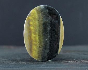 Oval bumble bee jasper cabochon, Natural stone, Jewelry making supplies  B6614