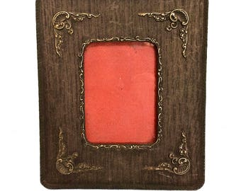 Antique Wood Frame with Detailed Raised Relief Carvings, Grandma's Attic, Embossed Maker's Mark
