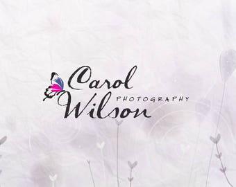 Butterfly Photography Logo. Premade Logo Design. Butterfly Logo. Photographer Branding. Custom Logo. Logo Template
