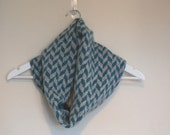 Grey and Blue Lambswool Snood  Knitted Circular Scarf, Snood UK, Circular Scarf UK, Gift For Her, Gift for wife, Gift for mother.
