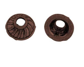 24pcs 7x3 mm antique copper finish metal bead caps-OFF2