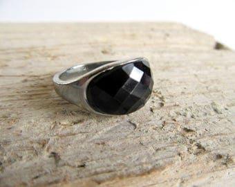 India Black Onyx ring.