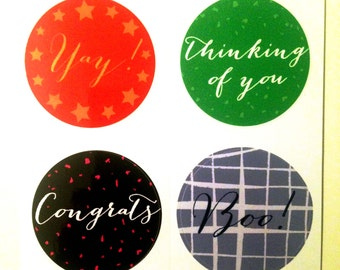 Fun, vibrant stickers for parcels and envelopes.