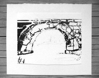 Original Drawing - ' The Bridge '