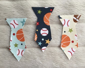 Sporty Baby Tie, Iron On Baby Ties, Iron On Toddler Ties, Football Tie, Baseball Tie, Basketball Tie
