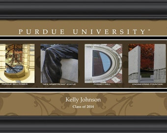 PERSONALIZED & FRAMED NCAA Purdue Boilermakers Letter Art Sports Prints