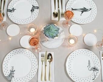 Animal Dinner Plate Set