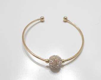 """Gorgeous Rhinestone """"Disco Ball"""" Bracelet (8339)"""