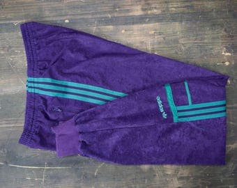 Adidas Purple Track Suit Bottoms