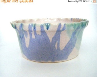 30% Off Storewide Vintage Glazed Pottery Casserole Dish or Serving Bowl Signed By Artist One Of A Kind