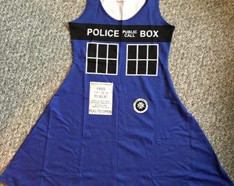 Police Box TARDIS-Inspired Dress