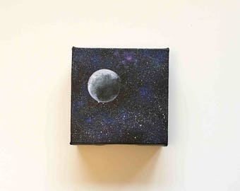 Milky Way | Original Acrylic Painting | 4x4 Inches | By Janelle Anakotta