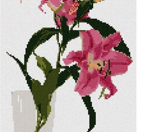Needlepoint Kit or Canvas: Lilies In Water