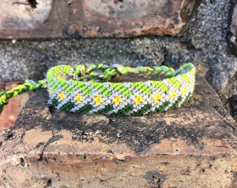 Friendship Bracelet - stained glass -  nature - farming