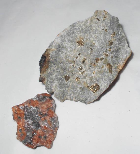 Red Granite Rock : Fools gold found rocks pyrite and red granite