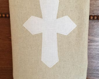 Cross Appliqued Tea Towel