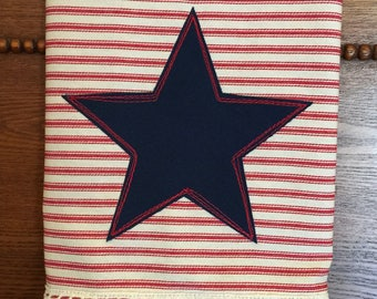 Star Appliqued Tea Towel