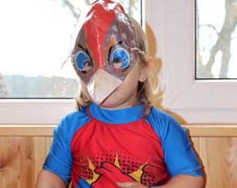 Soviet vintage mask RARE Vintage kids mask Cardboard bird mask Bird mask Old mask for kids Fun mask for toddler Kids carnival mask Kids mask