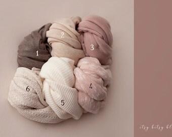 Knit Stretch Wraps, Newborn Knit Wraps, Baby Wraps, Newborn Photo Props, Photography Props, Swaddling Wraps